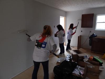 Volunteers Paint