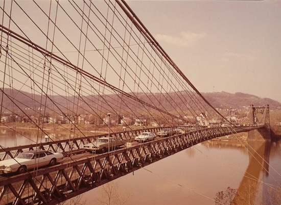oldest vehicular suspension bridge