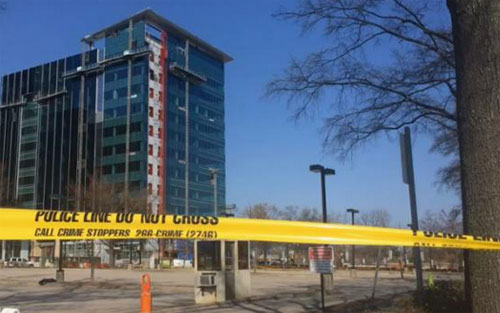 construction accident Downtown Raleigh