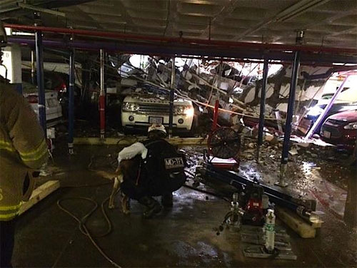 Parking garage collapse