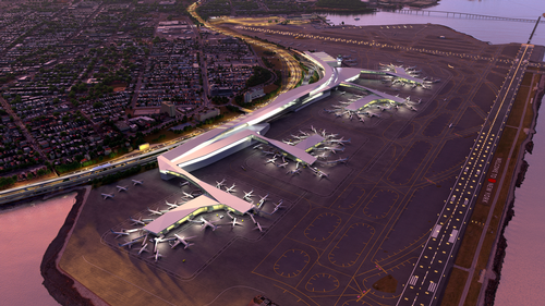 Rendering of the new LaGuardia
