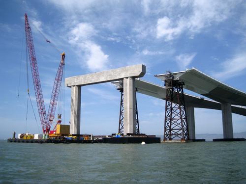 Bay bridge under construction