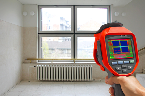Thermal imaging of radiator and window