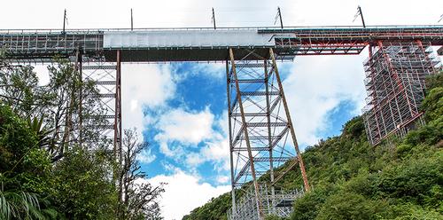 Makatote Viaduct under renovation