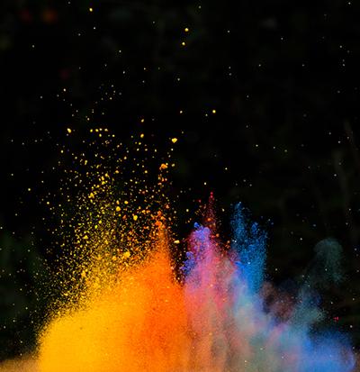 Powder coating colorful