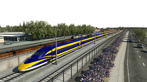 California bullet train rendering