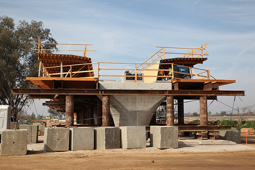 High-speed rail construction in Fresno