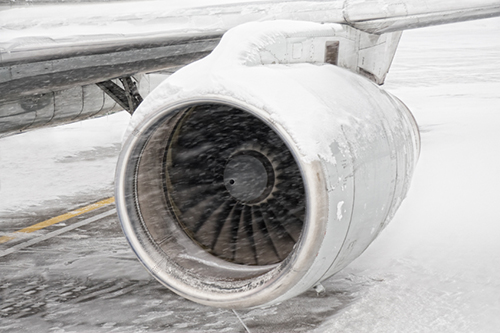airplane in snow