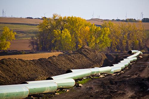 Keystone pipeline construction