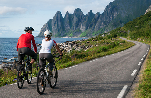 cyclists in Norway