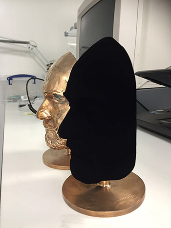 Vantablack on mask