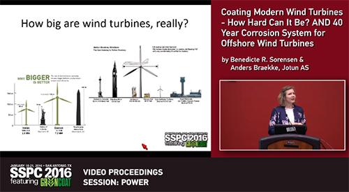 Wind turbine coatings presentations, SSPC 2016