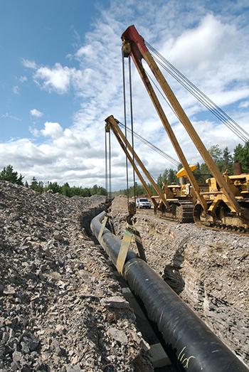 TransCanada gas pipeline install
