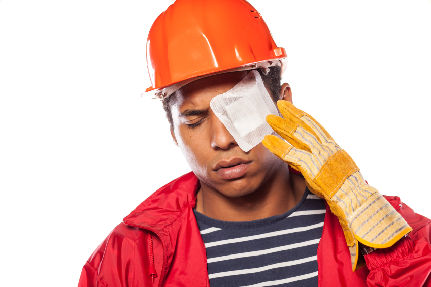 worker eye injury