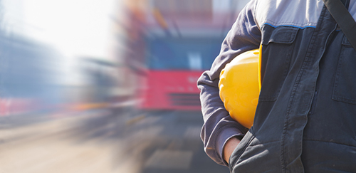 worker with construction hat