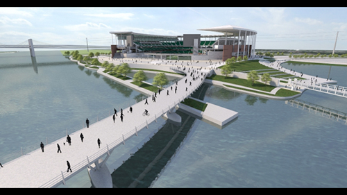 Baylor stadium bridge rendering
