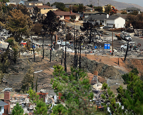 Destruction in San Bruno
