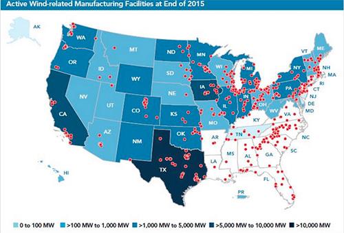 wind facilities in U.S.