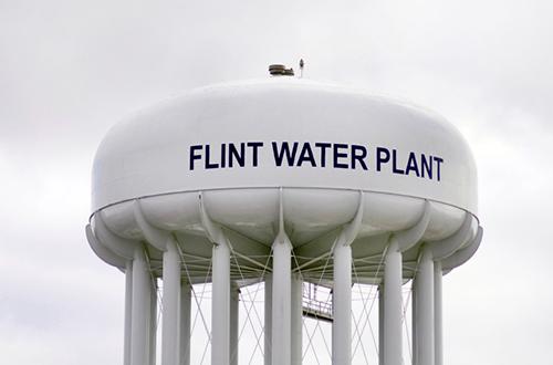 Flint MI Water Tower