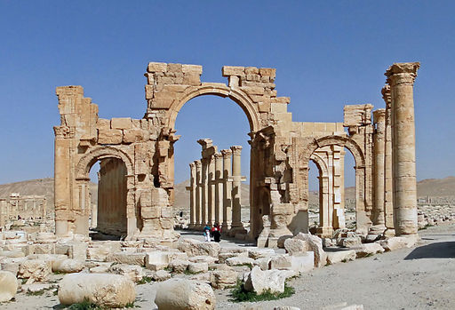 Palmyra's Monumental Arch, before it was destroyed by ISIS
