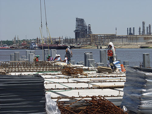 Construction at Port of Beaumont TX