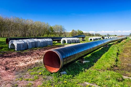 gas pipeline construciton