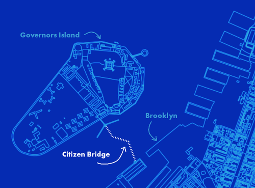Map of proposed Citizen Bridge site