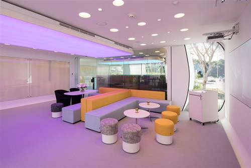 Interior of Dubai office building