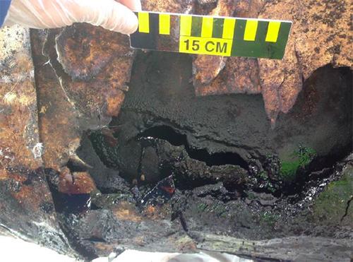 Plains Line 901 failure site