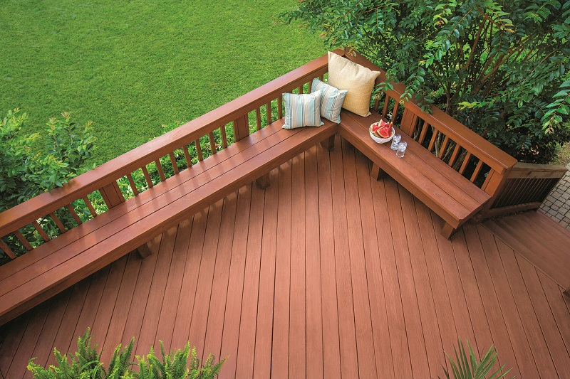 Deck stained with Olympic Maximum