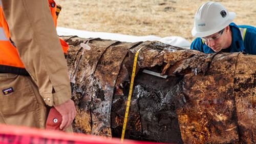 corroded pipeline, Santa Barbara