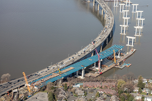 Steel girders at Tappan Zee site