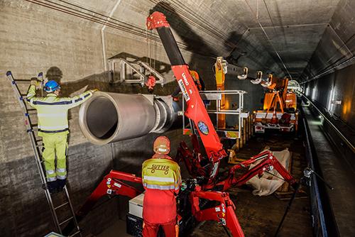Gotthard Tunnel construction