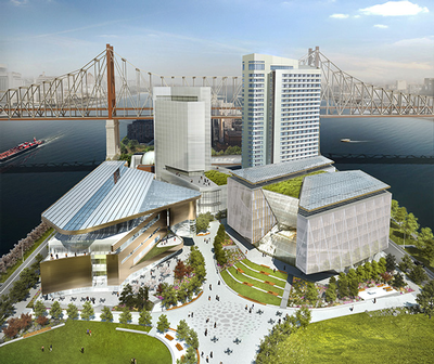 Cornell Tech Roosevelt Island campus rendering