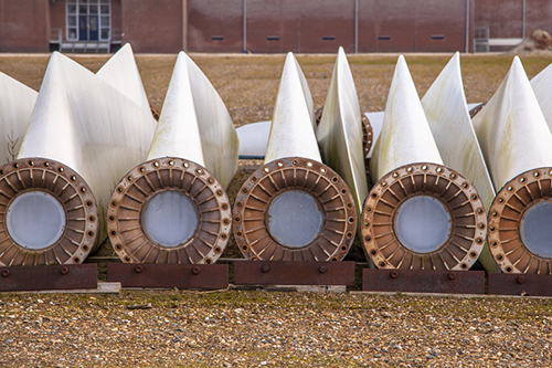 fiberglass wind turbine blades