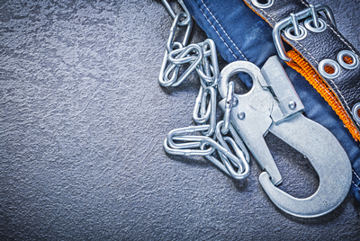 Fall prevention harness hardware