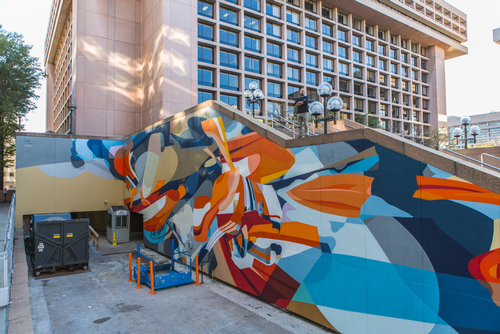 L'Enfant Plaza mural