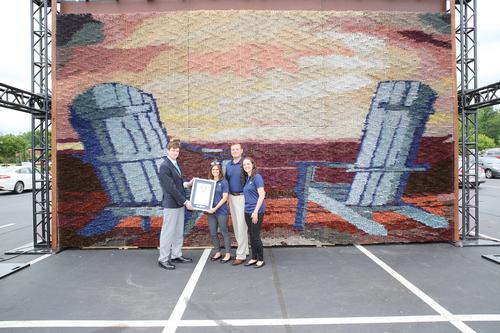 Largest paint brush mosaic