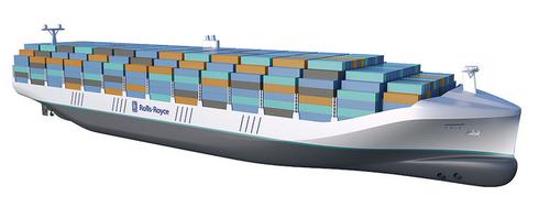 Concept remote controlled cargo ship