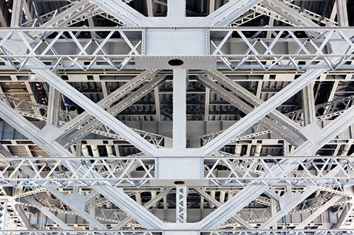 Steel frame under Sydney Harbour Bridge