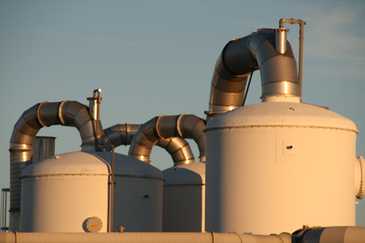 Industrial tanks with coating