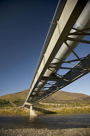 Trans Alaska Pipeline crossing river