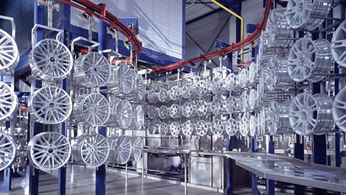 automotive components wheel production