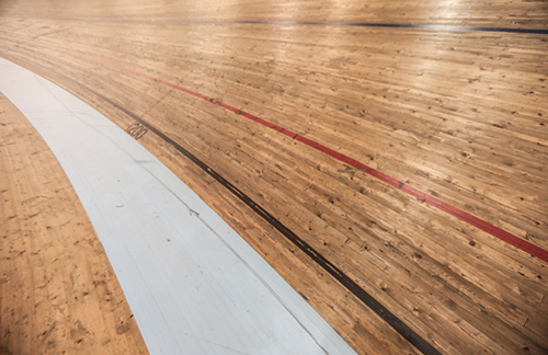 Velodrome floor