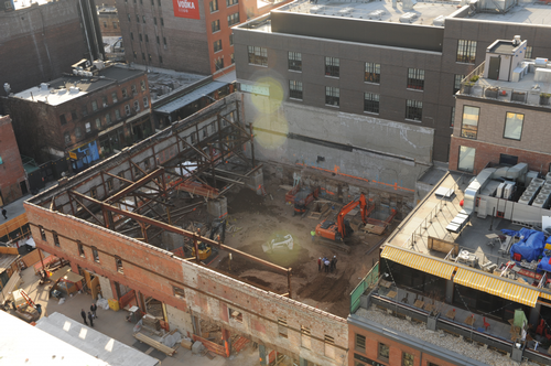 Site of fatal trench collapse in Manhattan