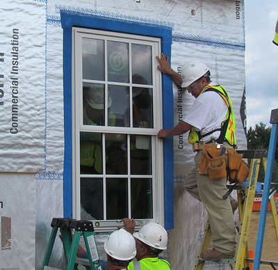 Net zero window installation