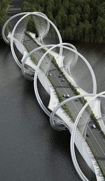 San Shan Bridge aerial view