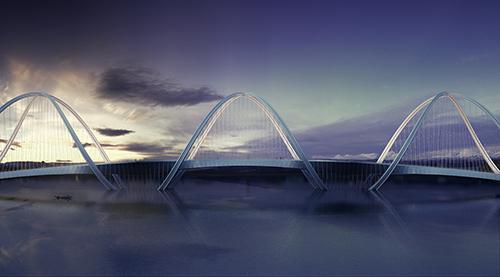 San Shan Bridge side view
