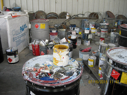 Containers left open during Puget Sound Coatings inspection