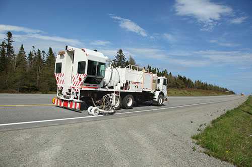 road striping truck